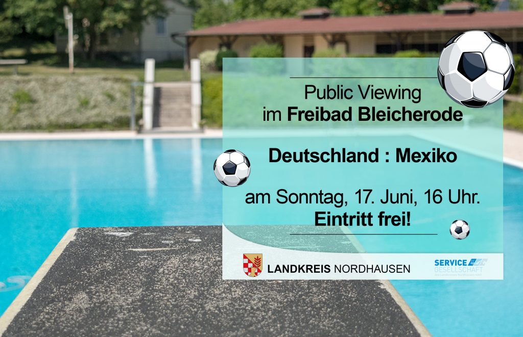 Public Viewing in Bleicherode